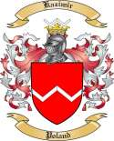 Kazimir Family Coat of Arms from Poland