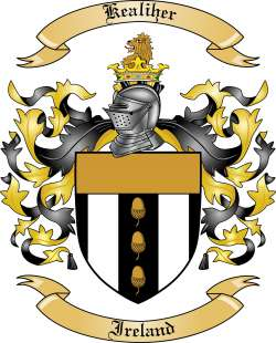 Kealiher Family Coat of Arms from Ireland