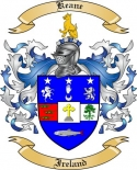 Keane Family Crest from Ireland