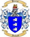 Kearse Family Coat of Arms from Ireland