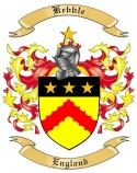 Kebble Family Coat of Arms from England