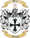 Keen Family Coat of Arms from Ireland