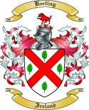 Keeting Family Crest from Ireland
