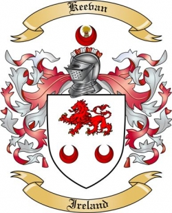 Keevan Family Coat of Arms from Ireland