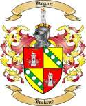 Kegan Family Crest from Ireland
