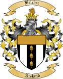 Kelcher Family Coat of Arms from Ireland