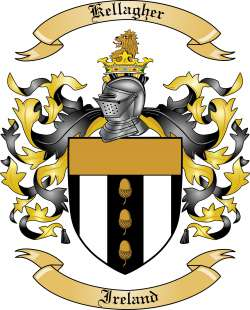 Kellagher Family Crest from Ireland