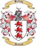 Kelledy Family Crest from Ireland