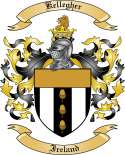 Kellegher Family Crest from Ireland