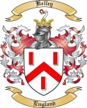 Kelley Family Coat of Arms from England