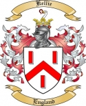 Kellie Family Coat of Arms from England