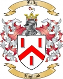 Kelly Family Coat of Arms from England