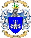 Kelly Family Coat of Arms from Ireland