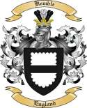 Kemble Family Crest from England
