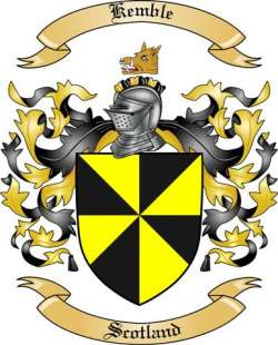 Kemble Family Coat of Arms from Scotland