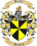 Kemble Family Crest from Scotland