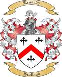 Kenardy Family Coat of Arms from Scotland