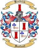 Kendrick Family Crest from Scotland2
