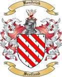 Kendrick Family Coat of Arms from Scotland