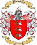 Kendrigan Family Crest from Ireland