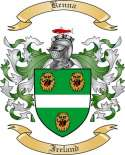 Kenna Family Coat of Arms from Ireland