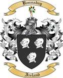 Kennaday Family Coat of Arms from Ireland