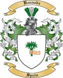 Kenneda Family Crest from Spain