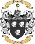 Kenneday Family Crest from Ireland