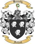 Kennedy Family Coat of Arms from Ireland