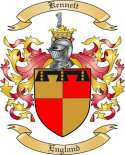 Kennett Family Coat of Arms from England