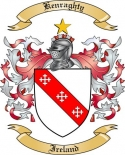Kenraghty Family Crest from Ireland