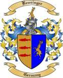 Kensinger Family Coat of Arms from Germany