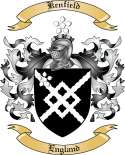Kentfield Family Coat of Arms from England
