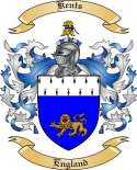 Kents Family Crest from England