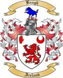 Keogh Family Crest from Ireland