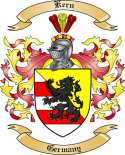 Kern Family Coat of Arms from Germany