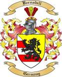 Kernodell Family Crest from Germany