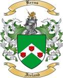 Kerns Family Coat of Arms from Ireland