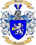 Kesell Family Crest from Germany2