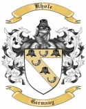 Khole Family Crest from Germany