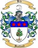 Kid Family Coat of Arms from Scotland