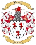 Kidgel Family Coat of Arms from England