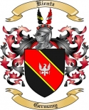 Kientz Family Coat of Arms from Germany