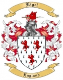 Kigel Family Crest from England