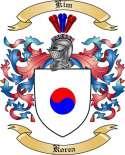 Kim Family Crest from Korea