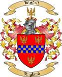 Kindell Family Coat of Arms from England