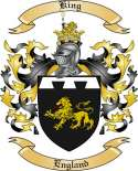 King Family Coat of Arms from England
