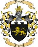 Kinges Family Coat of Arms from England