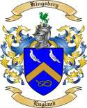 Kingsbery Family Crest from England