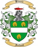 Kinnie Family Crest from Ireland